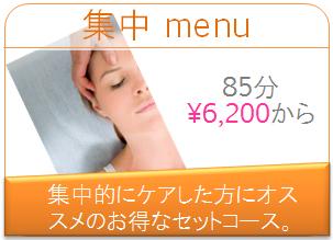 集中menu 85分 6,200円から